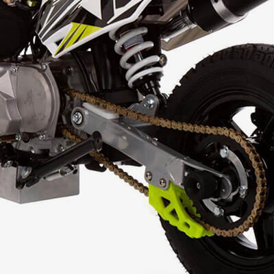 90R Supermoto Spec: Extended Swing Arm