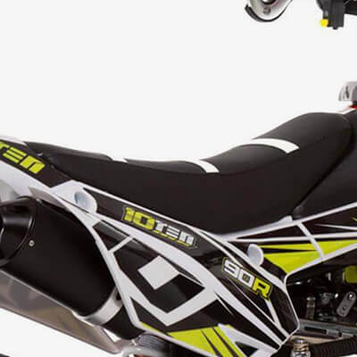 90R Supermoto Spec: Gripped Seat